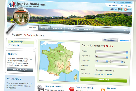 Hunt-a-home.com - French property portal